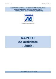 RAPORT de activitate - 2009 - - Inma