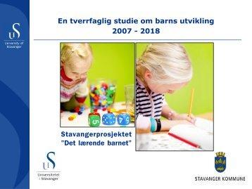 Stavangerprosjektet - Lesesenteret - Universitetet i Stavanger