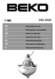 Beko HSA32520 vrieskist - Wehkamp.nl