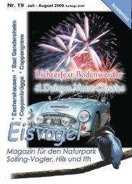 Eisvogel - 4. Jahrgang, Ausgabe 19, Juli-August 2009