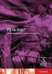 PÃ¥ lik linje? - Lesesenteret - Universitetet i Stavanger