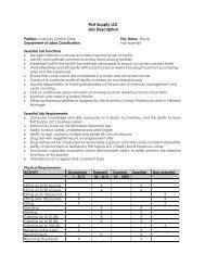 First Supply LLC Job Description
