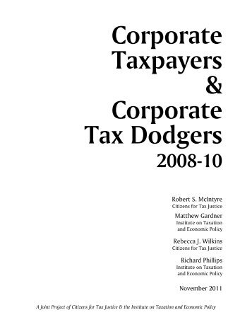 Corporate Taxpayers & Corporate Tax Dodgers - Citizens for Tax ...