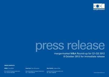 to read the press release from mergermarket - Wiersholm, Mellbye ...