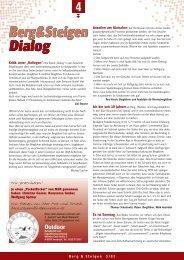 Berg&Steigen Dialog Berg&Steigen Dialog - Bergundsteigen