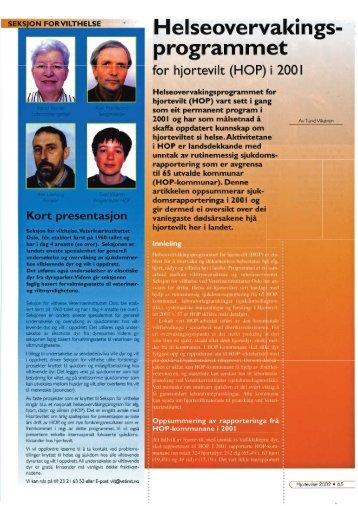 Helseovervakingsprogrammet for Hjortevilt (HOP) i 2001 - Hjorteviltet
