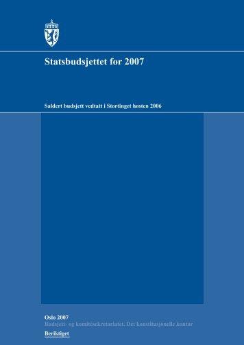 Saldert budsjett [pdf] - Stortinget