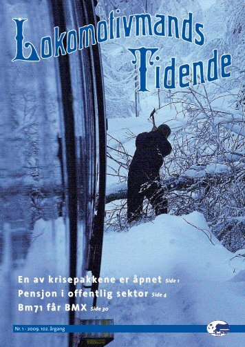 Lokomotivmands Tidende Nr.1 - Norsk Lokomotivmannsforbund