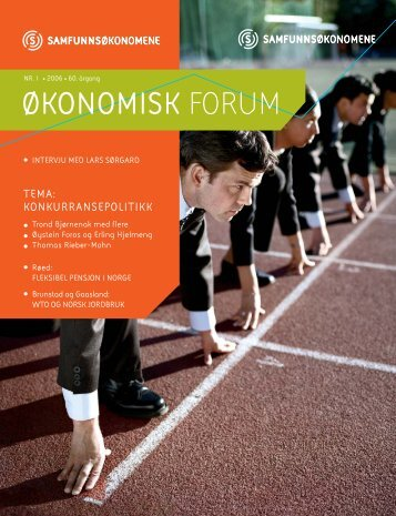 Oko.forum nr 1-06 - Samfunnsøkonomene