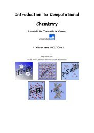 Introduction to Computational Chemistry - Symposium on Chemical ...
