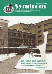 Syndrom nr 2 - 2006.indd - Arbeidsmiljøskaddes landsforening