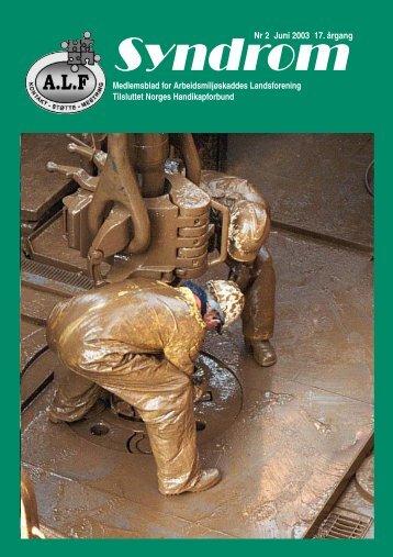 Syndrom Nr 2 - 2003 - Arbeidsmiljøskaddes landsforening