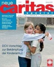neue caritas spezial zur Kinderarmut - Oktober 2008
