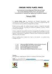 Les lauréats 2009 parlent de leur jardin - Société Nationale d ...