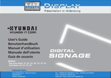 digital signage - Multimedia Display GmbH