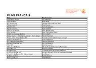 FILMS FRANCAIS - Semaine de la Critique