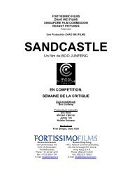 Sandcastle Presskit _Fre Version_ - Semaine de la Critique