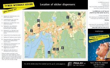 Location of sticker dispensers - Oslo kommune