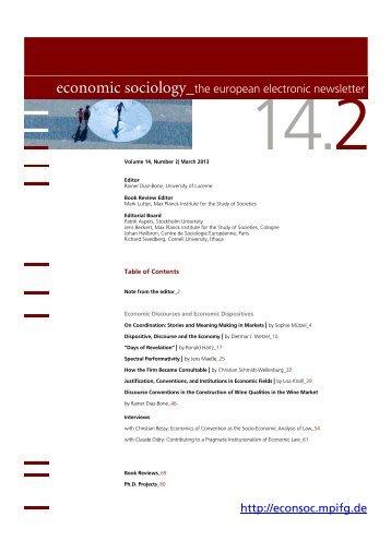 2 - Economic Sociology - MPIfG