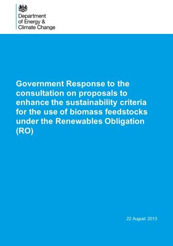 Government Response to the consultation on proposals to ... - Gov.uk