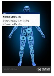 Nordic Medtech: Clusters, Industry and Financing in ... - Oslo Medtech