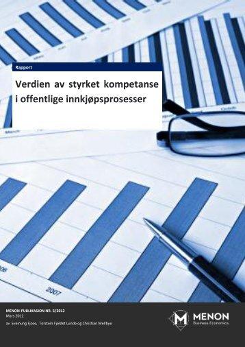 Last ned rapport - Menon - Business Economics