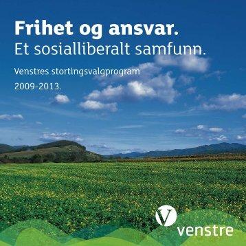 Stortingsvalgprogram 2009-2013 - Venstre