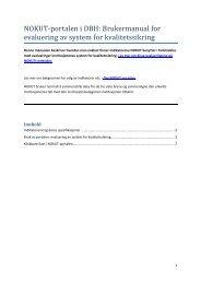 Evaluering av system for kvalitetssikring - DBH