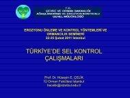 türkiye'de sel kontrol çalışmaları - Çölleşme ve Erozyonla Mücadele ...