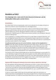 Rückblick 2013 und Schwerpunkte 2014 - SGB - CISL