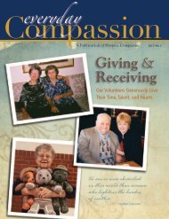 Spring 2011 - Volume 3: No 2 Giving & Receiving - Hospice ...