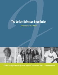 2011 Annual Fund Brochure - The Jackie Robinson Foundation