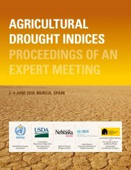 Agricultural Drought Indices - US Department of Agriculture