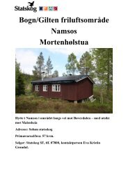 Prospekt for Morenhølstua (pdf) - Statskog