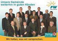 Peter Dreier zuverlässig – innovativ - Freie Wähler Hohenthann