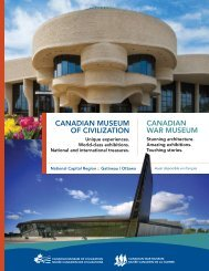 CANADIAN MUSEUM OF CIVILIZATION CANADIAN WAR MUSEUM