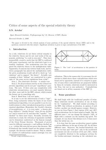 Critics of some aspects of the special relativity theory