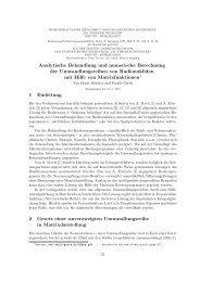 Analytische Behandlung und numerische Berechnung ... - Ewald Gerth