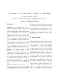 A Software Tool for Modelling and Simulation of Ion Channels