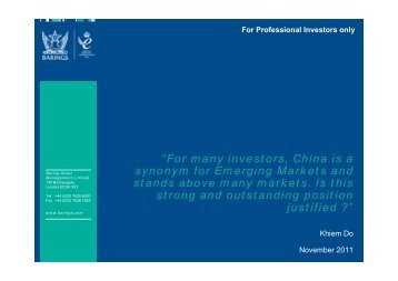 """""""For many investors, China is a synonym for Emerging Markets and ..."""