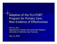 Adaption of the FLU-FOBT Program for Primary Care - Family and ...
