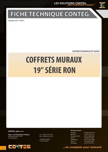 """COFFRETS MURAUX 19"""" SÉRIE RON - Conteg"""