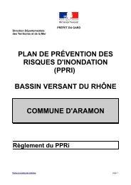 PLAN DE PRÉVENTION DES RISQUES D'INONDATION ... - Aramon.fr