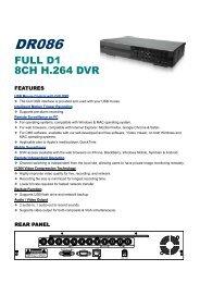 FULL D1 8CH H.264 DVR - IPCam