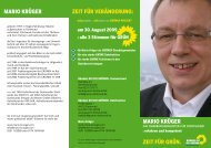 Flyer OB-Kandidat Mario Krüger. Dortmund - Krüger, Mario