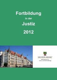 Fortbildung in der Justiz 2012