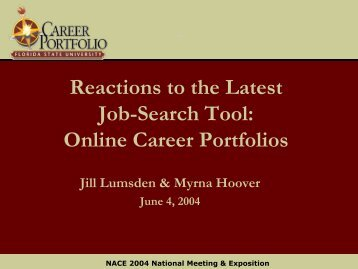 Online Career Portfolios - The Career Center
