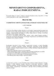 Pravilnik o korištenju obnovljivih izvora energije i kogeneracije - EIHP