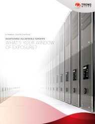 Maintaining Vulnerable Servers: What's Your Window ... - Trend Micro