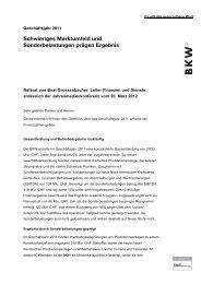 Schwieriges Marktumfeld und Sonderbelastungen prägen ... - BKW